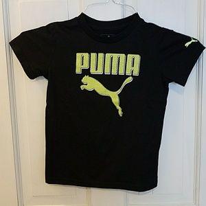 Puma 4T Black short sleeve tshirt